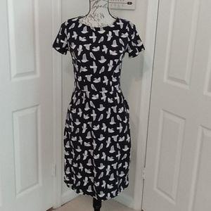 Boden Knit Navy Dress size 6